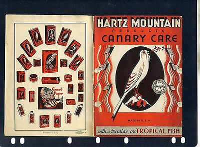 HARTZ  MOUNTAIN PRODUCTS CANARY CARE &  TREATISE ON TROPICAL FISH 1950c?