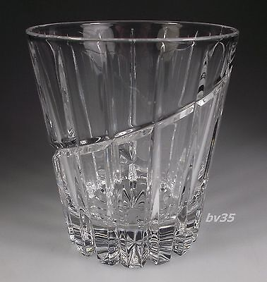 """MIKASA CRYSTAL UPTOWN DOUBLE OLD FASHIONED GLASSES  4"""" x 3 1/2""""  - MINT!"""