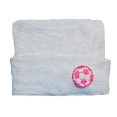 6 NEW FULL PREEMIE BABY HOSPITAL HAT BOGGAN BLANK UNBLEACHED COTTON USA MADE
