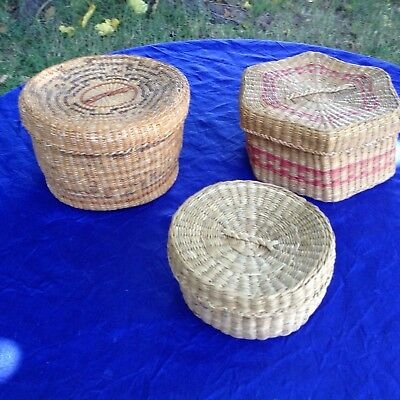3 Baskets With Lids