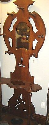 Antique Victorian Walnut Hat Tree Umbrella Stand. 8237