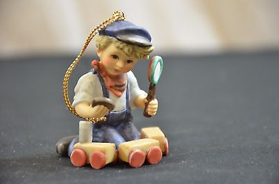 Berta Hummel Christmas Collection Ornament Little Boy with Toy Train 2004 Goebel