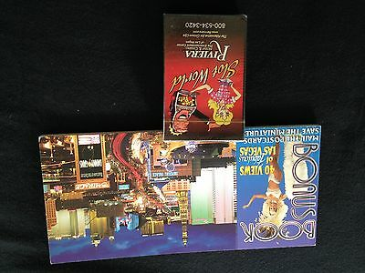 Slot World Riviera Casino Deck of Cards & 20 Book of Las Vegas Post Cards