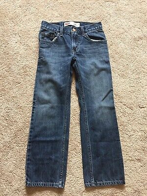 EXCELLENT USED CONDITION Boys Darkwash LEVI'S Jeans Size 10 STRAIGHT #505