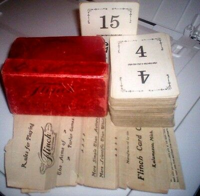 FLICH CARD GAME Original 1913 BOXED Instructions KALAMAZOO Michigan VINTAGE