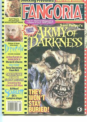 FANGORIA #120 Army Of Darkness DRACULA Creature From The Black Lagoon GORE 1993