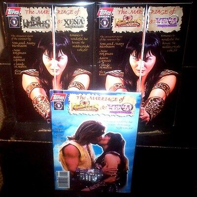MARRIAGE OF HERCULES & XENA Topps Comics FULL SET of A B C Cover Variants GOLD