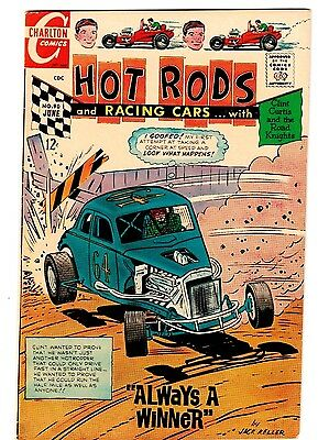 HOT RODS AND RACING CARS #90 Charlton Comics OUTLAWS CIRCUIT Road Knights 1968