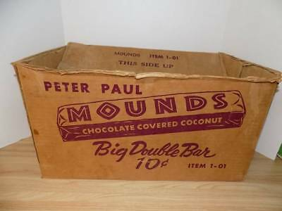 Vintage Peter paul Mounds Old Case Candy Bar Box