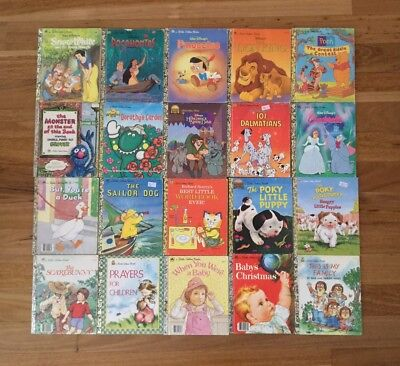 Little Golden Books Bulk Of 20 Mixed Collection Educational Reading Vintage