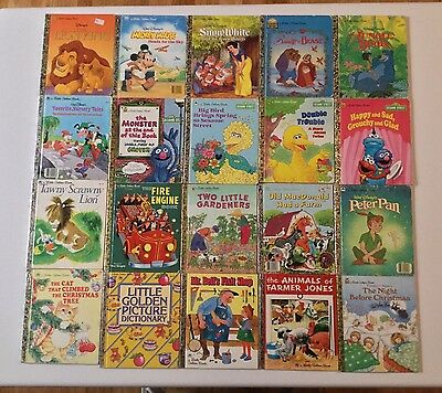 Little Golden Books Bulk Of 20 Mixed Collection Educational Reading