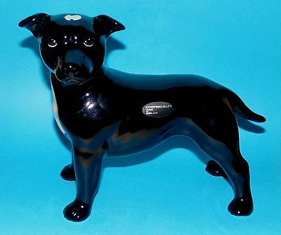 COOPERCRAFT ornament  figurine ' Staff Bull Terrier '  dog 1st Quality BOXED