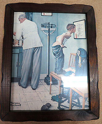 """Norman Rockwell - """"before The Shot"""" Framed Picture"""