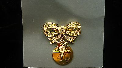 Eastern Star 40 year pin OES small servicce recogniztion award NEW