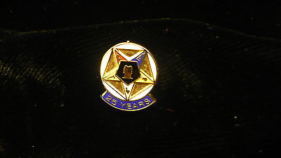 Eastern Star 25 year pin OES small servicce recogniztion award NEW
