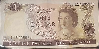 Reserve Bank Of New Zealand $1 : One Dollar