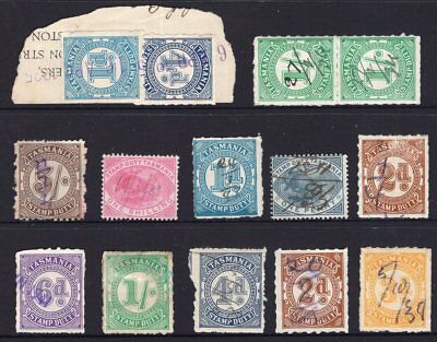 Tasmania mixed group of stamp duty issues see scans x 2