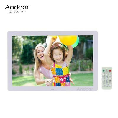 "Andoer 17"" LED Digital Photo Picture Frame Alarm Clock MP3/4 with Remote Control"