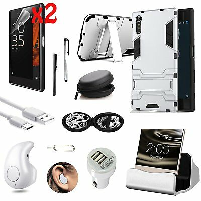11 in 1 Accessory Case Cover Dock Charger Bluetooth Earphones For Sony Xperia XZ