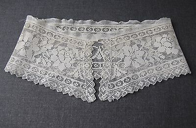 Antique Flowers & Leaves Lace Large Collar Great For Bride Wedding  Unused