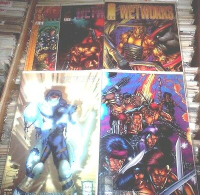 WETWORKS LOT OF 5 - #2 #3 #4 #7 #8 Image Comics PORTACIO VF to NM FREE SHIPPING!