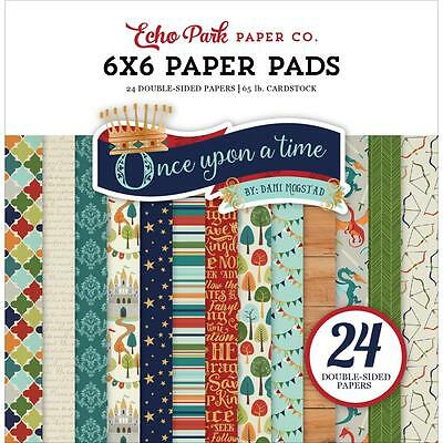 """Echo Park - ONCE UPON A TIME - PRINCE - 6x6"""" Scrapbooking Paper Pad - 24 sheets"""