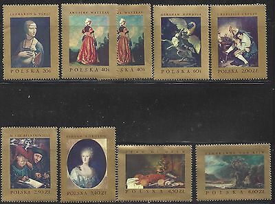 1967 Polish stamps Paintings from Polish Museums Mint condition  mnh