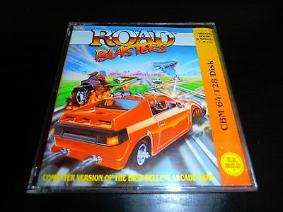 Commodore 64 C64 Disk Disc Game - Road Blasters - Boxed Complete