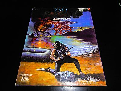 Commodore 64 C64 Disk Disc Game - Navy Seals - Boxed Complete