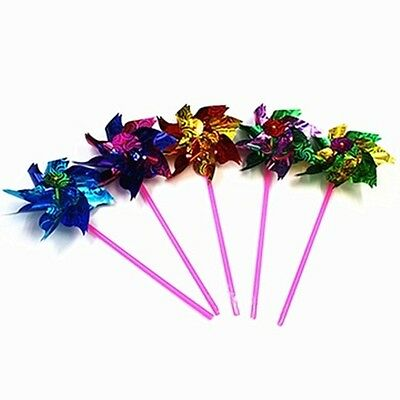 100 New Colourful Flower DIY Windmill wholesale Mixed toy-p1225