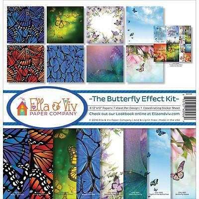 "Ella & Viv Paper Company 12x12"" Scrapbooking Kit - THE BUTTERFLY EFFECT"
