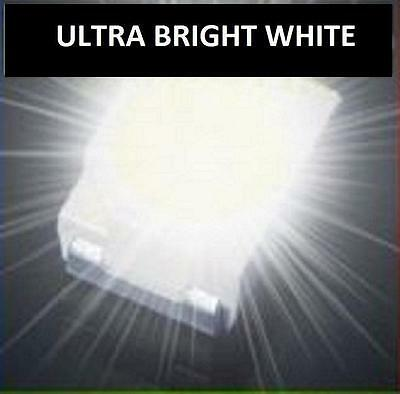 50 x ULTRA BRIGHT WHITE 1210 3528SMD SMT PLCC-2 SURFACE MOUNT ULTRA BRIGHT LEDS