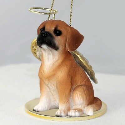 PUGGLE dog ANGEL Ornament RESIN Figurine Statue NEW Christmas Pug Mixed puppy