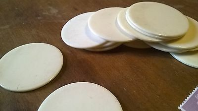 Round  Piece of Bone For Inlay / Jewellery  33 dia x 1-1.5  mm  Vintage Counter