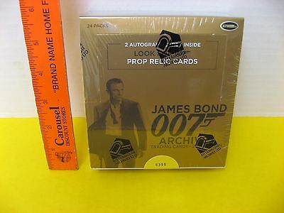 2014 James Bond 007 Archives Full Box #6395 - Autographed & Prop Relic Cards