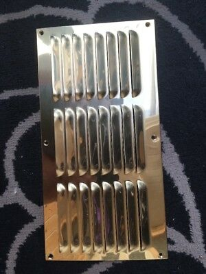 Solid Brass Louvered Vent Plate Quality Item