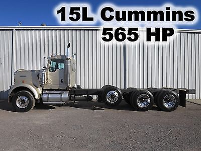 W900 15L Isx 565-Hp Cummins Cab Chassis Tag Lift Axle Pto Day Cab Semi Truck