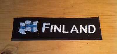 Finland Patch Aufnäher Aufbügler Applikation Flagge Nation  Bügelbild