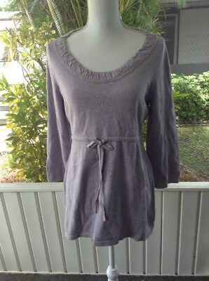 New Maternity Medium M Sweater Top Oh Baby by Motherhood Purple Size 8 - 10 NWT