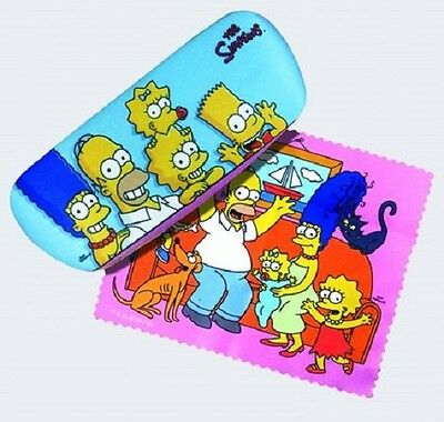 The Simpsons Eyeglass Case with Cleaning Cloth NEW