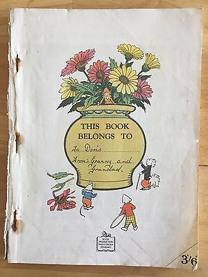 RUPERT ORIGINAL ANNUAL 1946 Lacks Front Cover Bright Contents See Pictures