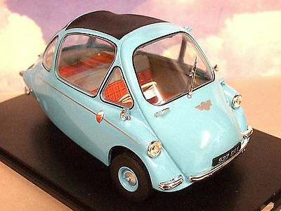 Oxford Diecast 1/18 Heinkel Trojan Bubble Car Rhd (Kabine) In Roman Blue 18He001