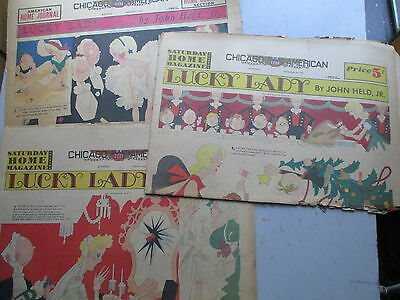 Chicago American Sunday Color Section w/3 Full-Page 1934 John HELD Jr. Cartoons