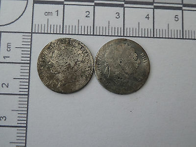 metal detecting finds - two English coins