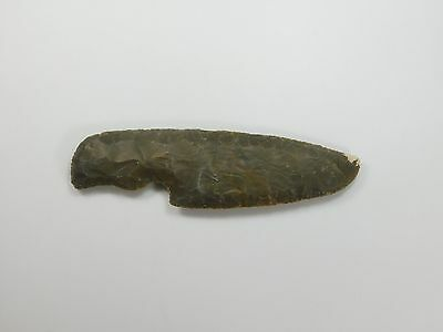 "Stone Knife Blade Hunting 7.1"" Skinning Knife Lance Arrowhead Spearhead Knapped"