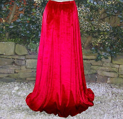 Ladies Victorian Dickensian Steampunk skirt costume fancy dress size 10-12 red V