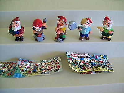 Ferrero Kinder Egg Surprise Toy Lot Germany Gnomes Elves Christmas Kitchen