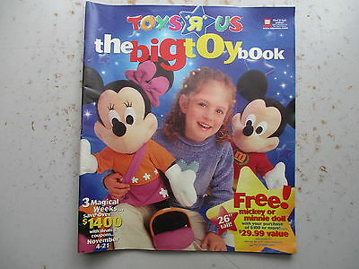 Toys R Us - The Big Toy Book - Catalog From November of 2001
