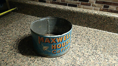 vintage maxwell house coffee tin 1lb metal advertsingAntique Low Container Can