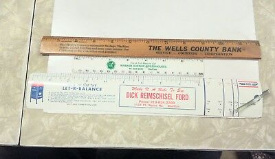 Have 3 Vintage Bluffton,indiana Rulers.
